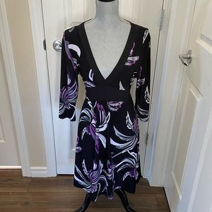 Beechers Brook Kimono Style Faux Wrap Dress